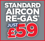 Standard Air Con Re-Gas £59