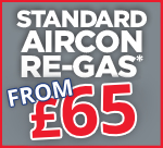 Standard Air Con Re-Gas £65